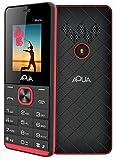 Aqua Maze - 1000 mAh Battery Slim Dual SIM Basic Keypad Mobile Phone- Black+red