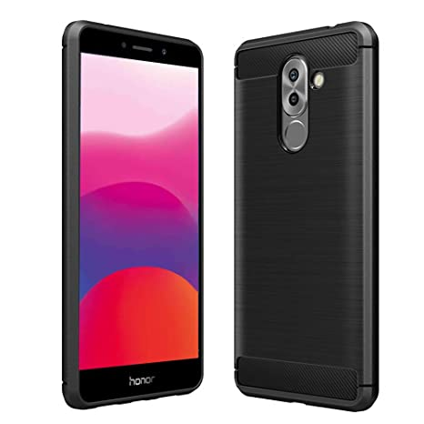 Vkaiy Funda Huawei Honor 6X, Huawei Honor 6X Carcasa, Fibra de Carbono, Soft Silicona TPU Fundas Caso, Anti-Rasguño, Shockproof Totalmente Protectora ...