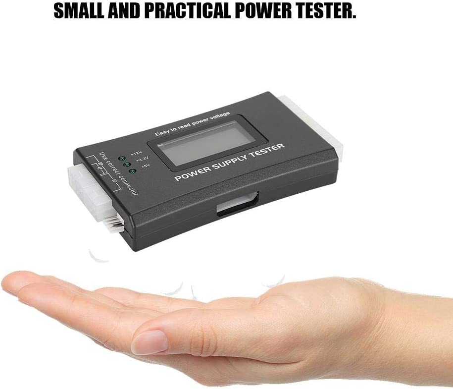 Portable Computer ATX Power Tester Wendry LCD Display Power Supply Tester Avoid Computer Equipment Damage Indicate Status Voltage