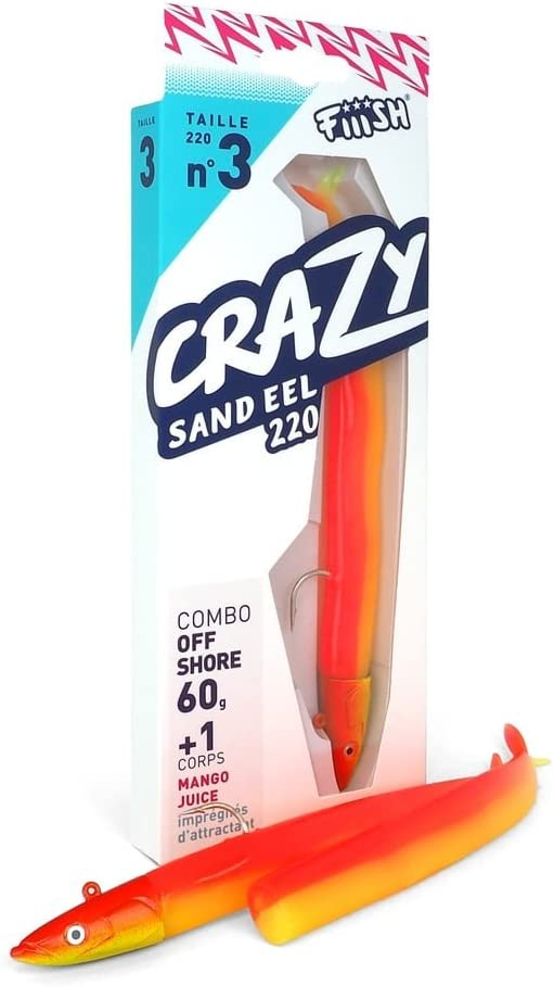 Crazy Sand Eel Fiiish Lures 220 Combo Nº3 - Señuelo Blando de ...