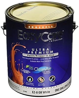 True Value EZ8-GL EZ8-1G EasyCare Paint/Primer in One Off White Interior Eggshell Latex Enamel, 1-Gallon