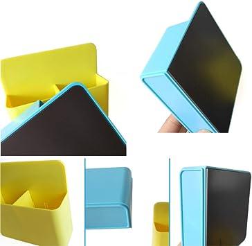 Huyiko per pennarelli bianco Organizer portaoggetti magnetico in gomma per frigorifero