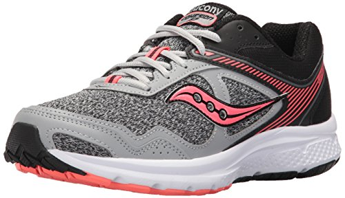 Saucony Women's Cohesion 10 Running Shoe, Grey Coral, 7 Medium US