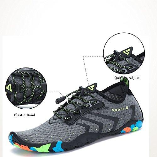 Gris Playa Zapatos de Unisex Putu Adultos 4qp8X