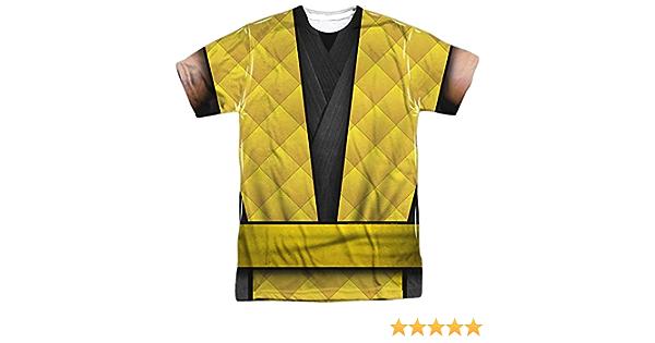 pour Adultes Sublimation P Mortal Kombat Klassic choisissez votre Fighter front imprimé dans le dos