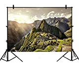 7x5ft Machu Picchu Scenic Natural history Ruins Polyester Photography Backdrop Photo Background Studio Props