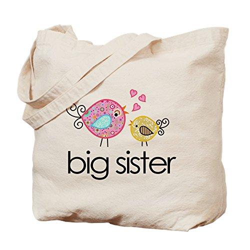 Big Sister Natural - CafePress - Whimsy Birds Big Sister - Natural Canvas Tote Bag, Cloth Shopping Bag