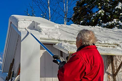 SNOWPEELER ROOF RAKE! Easy-To-Use Rooftop Snow Removal Tool with 20-FT Handle, 9-FT Snow Slide and 18-IN Cutting Blade. Aluminum and Stainless-Steel Construction. Less Time and Effort than Snow Rakes! by SNOWPEELER (Image #1)