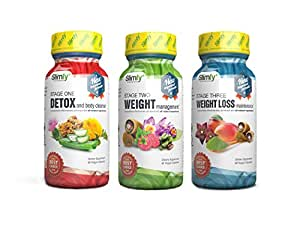 Slimfy Weight Loss Supplements - 3-Stage Complete Weight Loss Program (3 Months Supply)