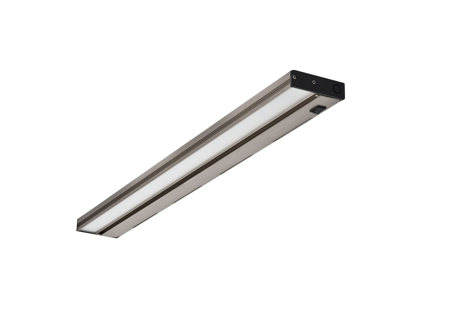 NICOR Lighting Slim 30-Inch Dimmable LED Under-Cabinet Lighting Fixture, Nickel (NUC-3-30-NK)