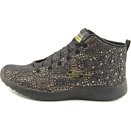 Skechers Womens Burst - Seeing Stars Casual Shoe Black Gold