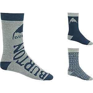 Burton Multi Blue Apres 3 Pack Socks - Men's Multi Blue, M