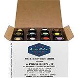 AmeriColor Amerimist Metallic & Pearl Sheen Airbrush .65 Ounce Set of 12