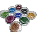 Ball chains for jewellery making, set of 9 colours