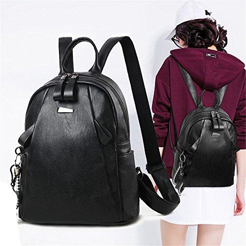 RFVBNM Frauen Rucksack Mode kausal Taschen hochwertige Damenrucksack weibliche Umhängetasche PU weiche Ledertasche Mumie Rucksack Bestes Geschenk für Mädchen