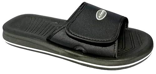 la vendita di scarpe risparmia fino all'80% vendita calda De Fonseca Pantofole Ciabatte Mare Uomo MOD. Amalfi M310 Velcro Nero 45/48