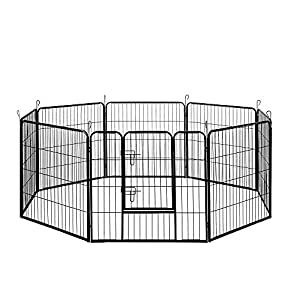 32″ 80x80CM 8 Panel Pet Playpen Portable Exercise Cage Fence Dog Puppy Rabbit Click on image for further info.