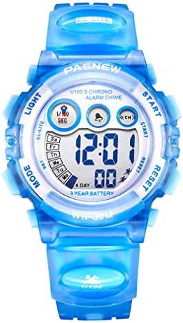 AZLAND Sports Watch Digital Kids Watches New Features Night-light,Swimming,Waterproof,Blue