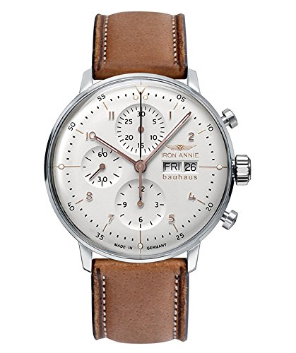 Iron Annie Bauhaus Chronograph Watch Swiss ETA 7750 Automatic Sil Dial 5018-4 (Automatic Watch 7750)