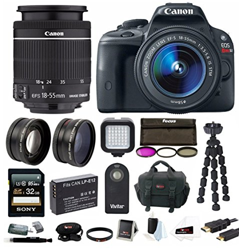 Canon EOS Rebel SL1 18MP Digital SLR with 18-55mm EF-S IS ST