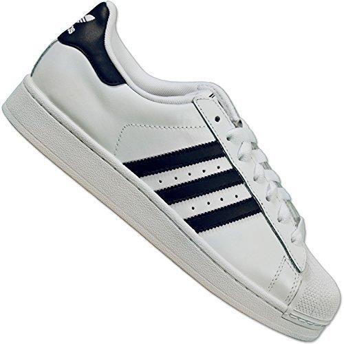 adidas Originals Superstar II White Navy Unisex Casual Shoes G17070 [US size (Superstar 2 Leather Casual Shoe)