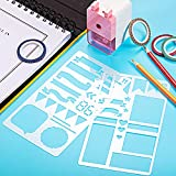 68 Pieces Journal Stencil Washi Tape and Journal