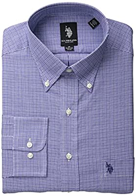 U.S. Polo Assn. Men's Navy Glen Plaid