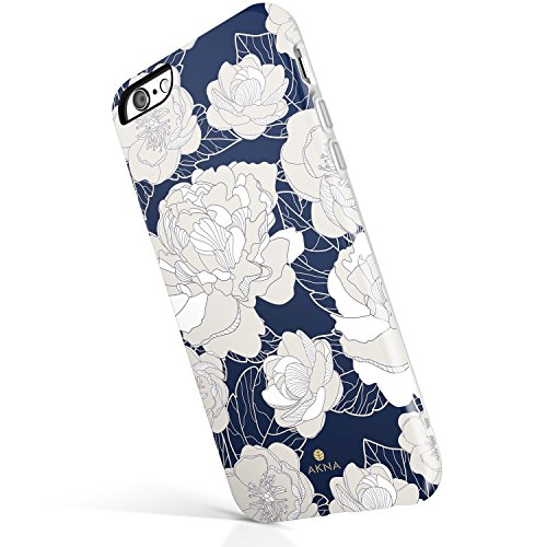 Vintage Floral Pattern - iPhone 6 Plus/iPhone 6s Plus case, Vintage Floral Pattern, Akna Hard Silicon Back Cover for Girls (51-U.S)