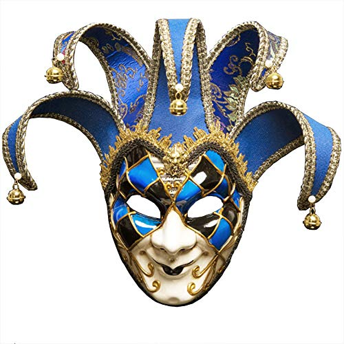 IEUUMLER Retro Venetian Masquerade Masks Eye Mask for Halloween Mardi Gras Party Ball Costume TS012 (Blue)