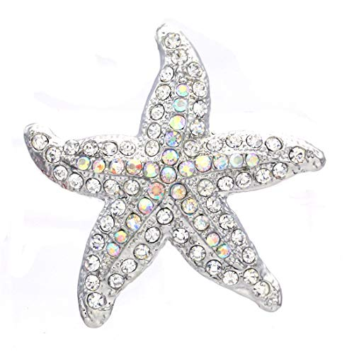 (Soulbreezecollection Starfish Charm Pin Brooch Wedding Bridesmaid Fashion Jewelry Necklace Pendant Compatible)