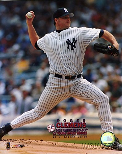 (Roger Clemens NY Yankees MLB Hologram 8x10 Color Glossy Photo #1 in Mint Condition)