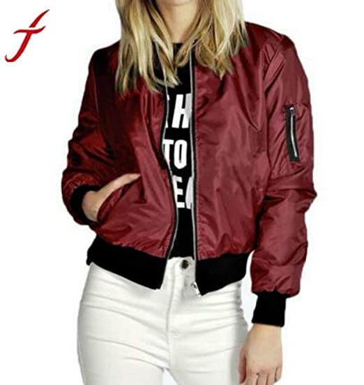Phenomenally You Chaquetas Mujer Slim Biker Soft Zipper ...