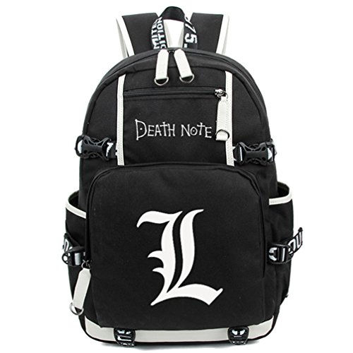 [Siawasey Death Note Anime Cosplay Luminous Daypack Backpack Shoulder Bag School Bag] (L Costume Death Note)