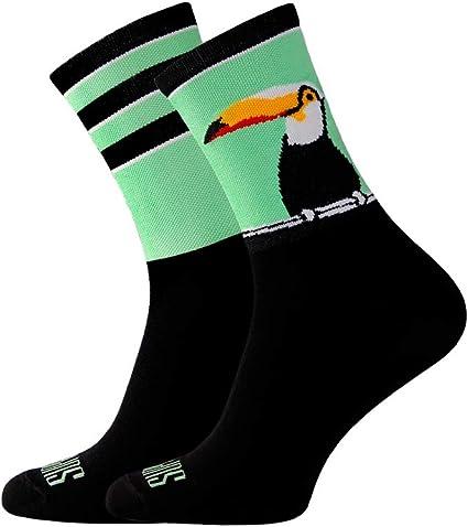 6-7 UK 39-41 EU Support Calcetines de ciclismo para hombre Big Bird