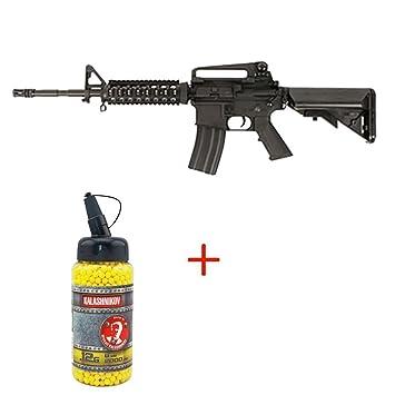 Airsoft Cyma - pistola para airsoft M4 RIS CM307, con muelle, color negro,