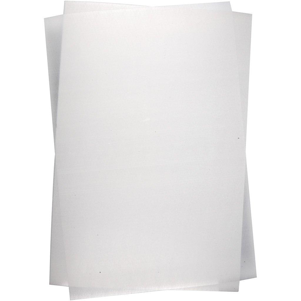 Creativ Company 79092 hoja de plástico retráctil - Hojas de plástico retráctil (Transparente, 20 cm, 30 cm, 10 hojas)