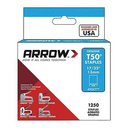 Arrow Fastener 505 Genuine T50 5/16-Inch Staples, 1,250-Pack ARRT50516S