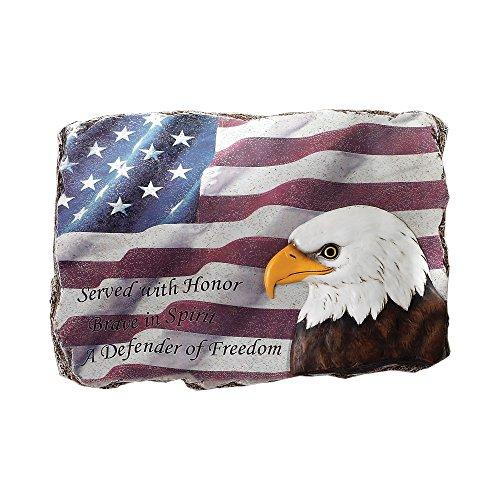 Napco Patriotic Flag with Eagle Head (Patriotic Eagle Plaque)