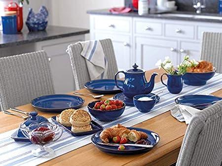 Denby Service De Table En Ceramique 12 Pieces Bleu 001042958
