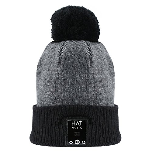 Bluetooth Beanie Hat Bobble Hat Wireless Headphones Headset FoYoung Pom Pom Hats for Women Girls With Bluetooth Speakers