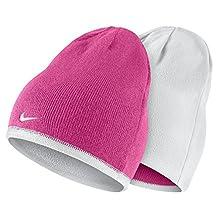 Nike Reversible Beanie Little Kids/Big Kids Vivid Pink/White/White Beanies Hat