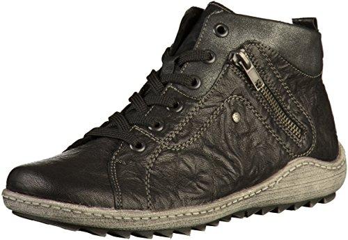 Negro schw R1490 Negros SCH SCH schw con Graph Graph 02 Mujeres Cordones Remonte Zapatos wRqY00