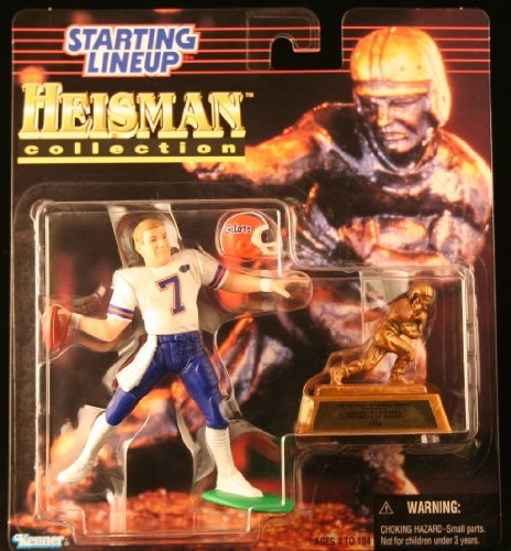 DANNY WUERFFEL / UNIVERSITY OF FLORIDA * 1997 NCAA College Football HEISMAN COLLECTION Starting Lineup Action Figure, Football Helmet & Miniature 1996 Heisman Memorial Trophy