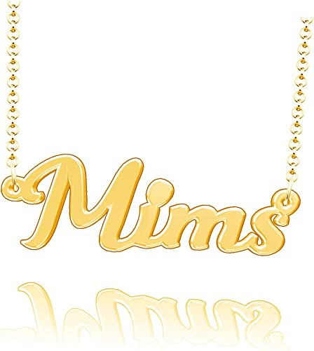 LoEnMe Jewelry Customized King Name Necklace Stainless Steel Plated Custom Made of Last Name Gift for Family