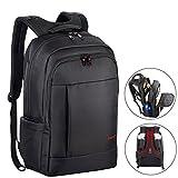 Laptop Backpack, Kuprine Rainproof Lightweight Slim Backpack Business Daypack Travel Bag College School Backpack Up to 17 inch Laptop Black