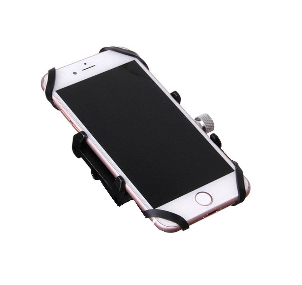 Gub iQuicker G86 Aluminum Mountain Bike Road Bike Mount Phone Holder Aluminum Alloy Phone Holder for Mountain /& Road Bike Motorcycle-Compatible with iPhone7//7 Plus 6s//6s Plus Samsung Galaxy S8 And More Silver