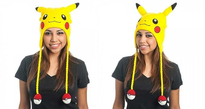 d2103001ce3 Image Unavailable. Image not available for. Colour  Pokemon Pikachu Big  Face Laplander Beanie Hat