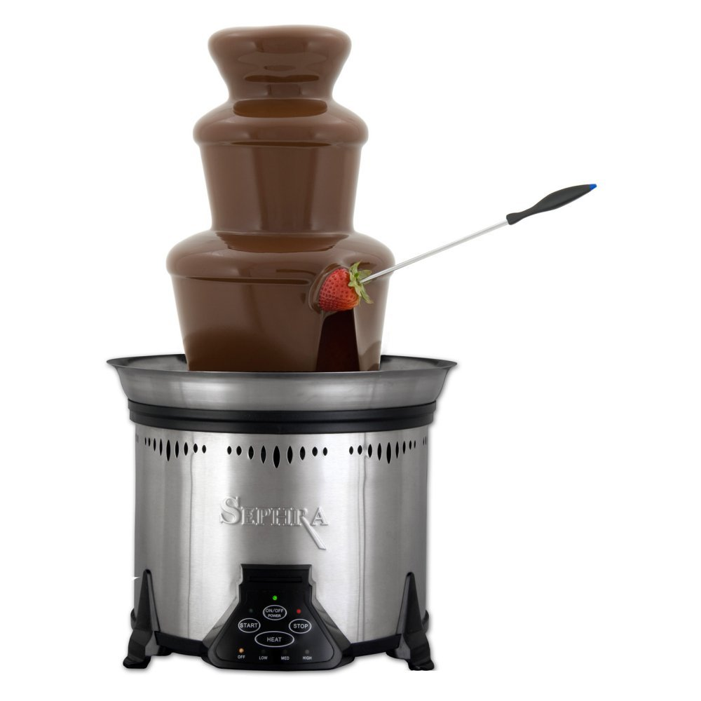 Sephra CF18M Elite Home Chocolate Fountain-Stainless Steel