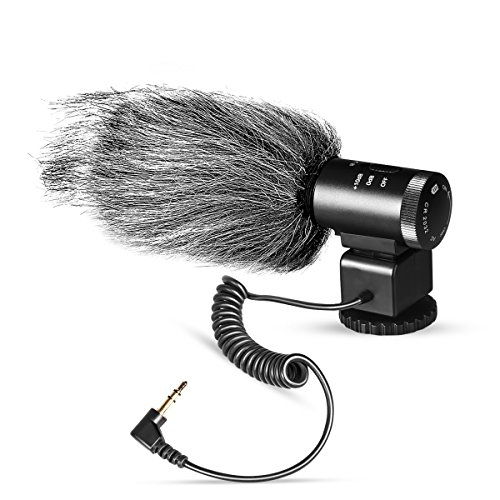 Meike MK-MP1 20M 3.5 MM Standard Autio Input Super-Cardioid Pickup Noise Reduction Video Interview Microphone for Common Types of Middle/High-End Camcorders and DSLR with Standard Hot Shoe