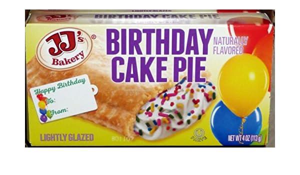 JJs Bakery Lightly Glazed Snack Pies 4 Oz 6 Pack Birthday Cake Amazon Grocery Gourmet Food